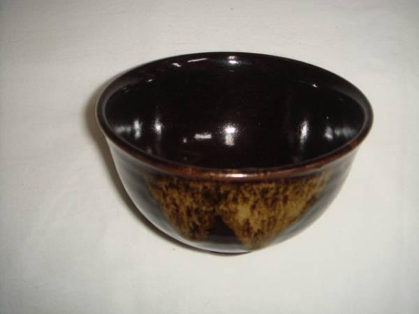 茶道具 薩摩焼抹茶碗 黒薩摩茶碗 染浦十郎 79