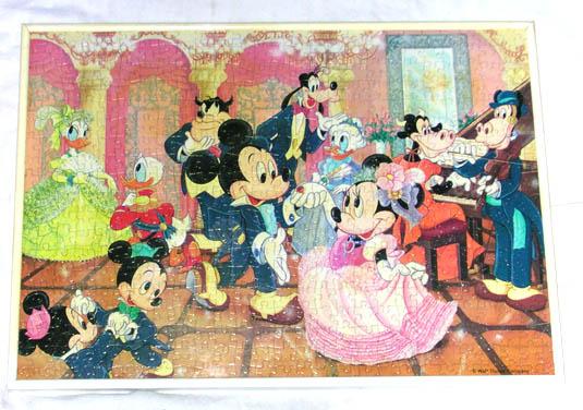 ディズニーミッキーマウスジグソーパズル完成品_画像1