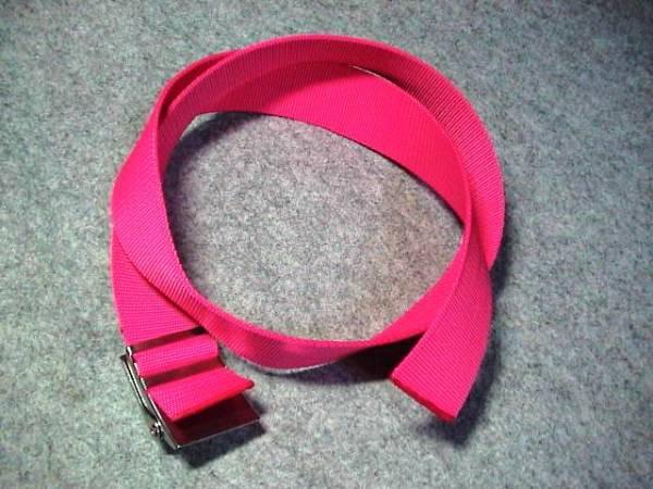 *格安!ウエイトベルト&バックル130cm ピンク 送料¥164(^^)v♪k_画像2