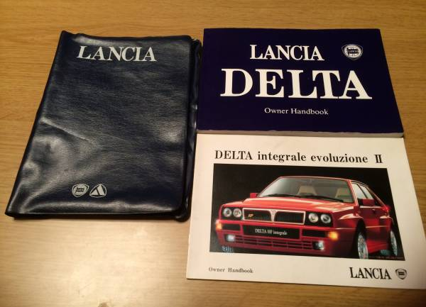 【送料無料】 1994年/ランチア/ランチャ/デルタ/エボ2/車検証/入れ/ケース/取扱説明書/取説/D車