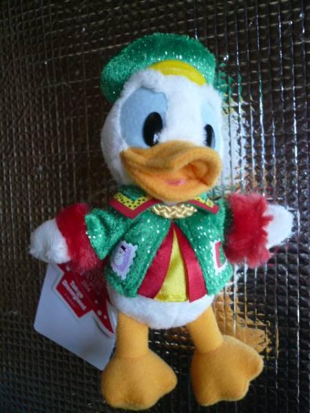 ディズニーランドクリスマス2014ドナルドぬいぐるみバッチ 新品