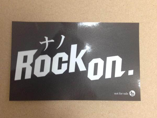 Rock on. ナノ 非売品 ステッカー