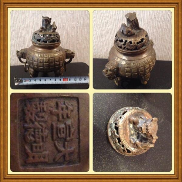 香炉◆中国古美術◆大明宣徳年製◆獅子_画像3