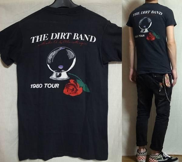 ☆即買送料込み☆vintage 80's The Nitty Gritty Dirt Band TEE ヴィンテージ Tシャツ 黒 made in usa ニッティ グリッティ ダートバンド_他にも多数出品中です。是非ご覧下さいませ