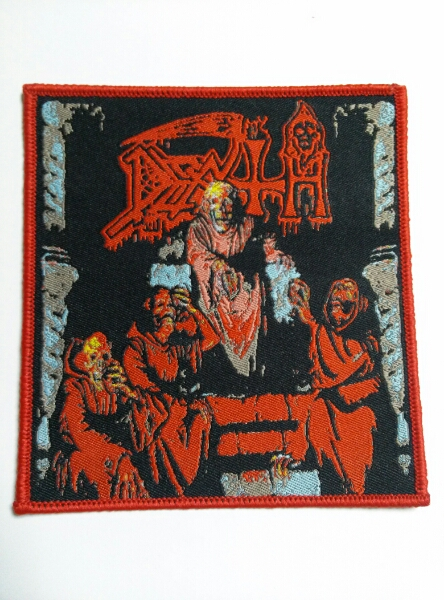 DEATH 刺繍パッチ ワッペン scream bloody gore / slayer venom sodom