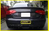 Audi アウディ A4 B8 前期 カーボンリアディフューザー エアロ スポイラ- リアルカ-ボン綾織り ボディ-パ-ツ 外装カスタム