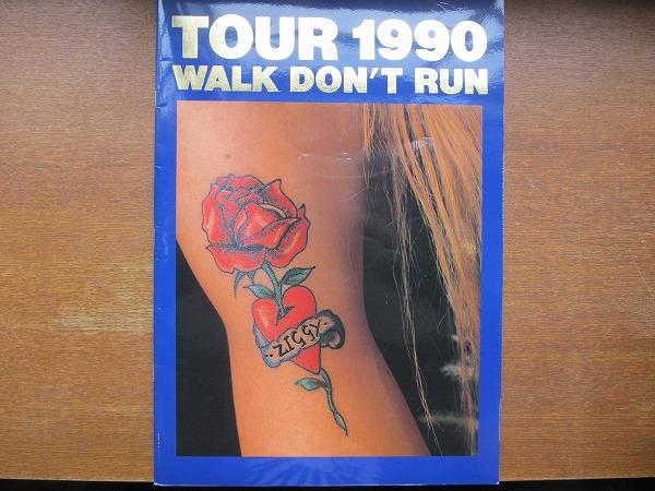 ZIGGY ジギー「WALK DON'T RUN」ツアーパンフ 1990●森重樹一