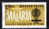 『ハンガリー:使用済 1962年 マラリア撲滅 1種』