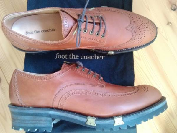 foot the coacher WING TIP SHOES US9 新品 Tricker's Marmolada フットザコーチャー ウイングチップ_画像2