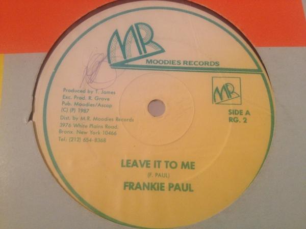 ★Frankie Paul/Leave It To Me★KILLER DIGITAL!_画像1