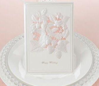 ◇ 結婚式招待状/ウェディング★1枚110円★からとなりのトトロ他_イチゴをやさしい色で表現したカード!