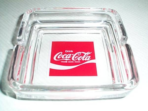 【DrinK コカコーラの灰皿(ガラス製)】 _画像1