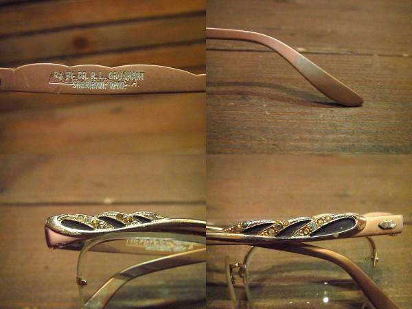ビンテージ50's60's★B&L LIBERTYリムレスブロー眼鏡★40's12KGF_画像3