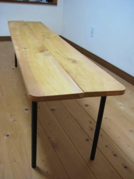 天然木ベンチ 長椅子 腰掛け アイアンベンチ_画像2