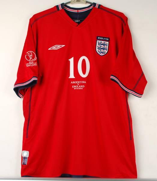 02W杯 イングランド(A)#10 オーウェン OWEN 2002WC仕様 アルゼンチン戦 XL