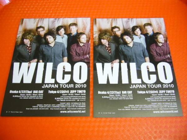 ウィルコ WILCO ☆2010年来日公演チラシ2枚 オルタナ☆即決
