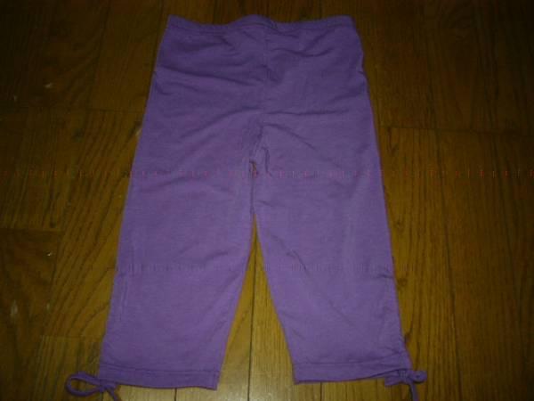 スパッツ 150cm 5分丈 紫 先端 紐あり お洒落を楽しんで 未使用_画像1