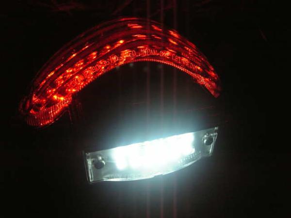 GSX1300R 隼ハヤブサ用LEDナンバー灯ユニット(LEDナンバー灯化用商品)_画像3