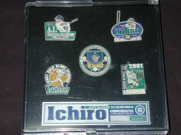 マリナーズのイチローのピンバッジセット(ピンズ、未使用) グッズの画像