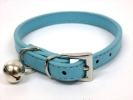送料無料 青 XS 猫用 小型犬 鈴付き 首輪 ブルー 水色 シンプル