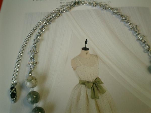 可憐なラピスネバダと水晶とお花のチェーンのネックレス♪_画像2