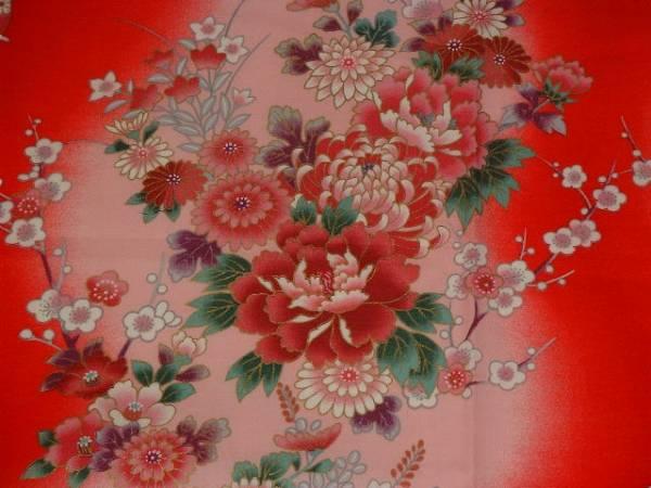 手作り、綿100%、53cmの風呂敷、花と女の子_画像3