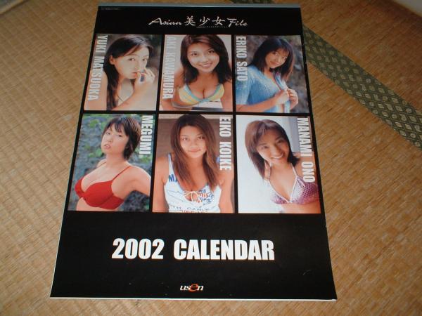 usen美少女カレンダー 2002 佐藤江梨子 MEGUMI 小池栄子 他
