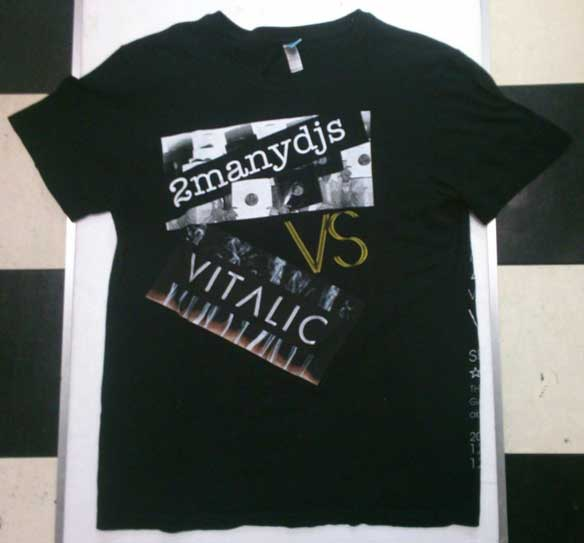 2manydjs vs VITALIC 大沢伸一  Tシャツ