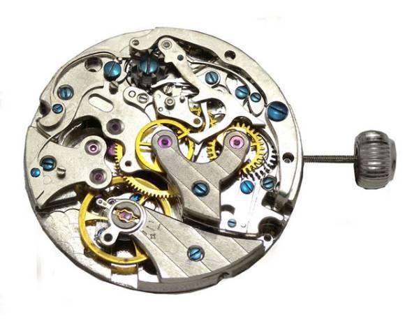 伝説のVenusヴィーナスCal.175ライセンス機械式手巻クロノグラフ黒/アイボリー新品1年保証付_画像3