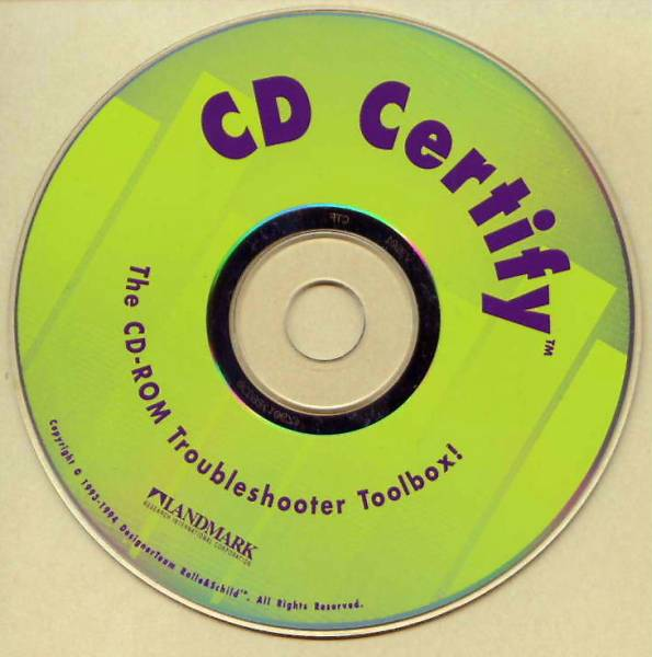 ◎●【CD Certify] CD-ROM trouble shooter