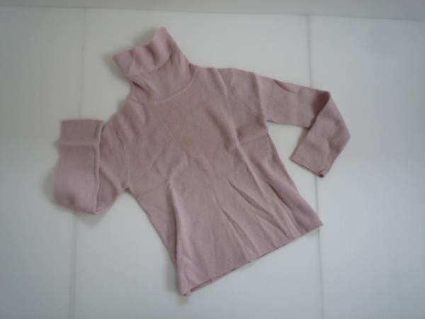 【お買い得!】 ● STUNCHIENU ● タートルネックニット ピンク 長袖 LL