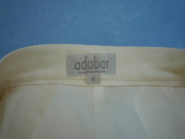 【お得!!】◆アダバット/adabat◆ カラーパンツ オフホワイト Ⅱ_画像3