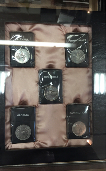 即決■超レア zippo 50州 25セントコイン硬貨 米国認定5個セット_画像1