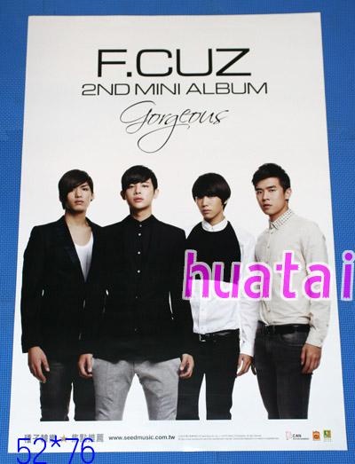 F.CUZ フォーカス 2nd Mini Album Gorgeous 告知ポスター