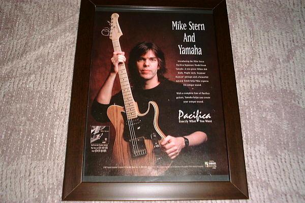 マイク・スターン ヤマハギター USA 広告
