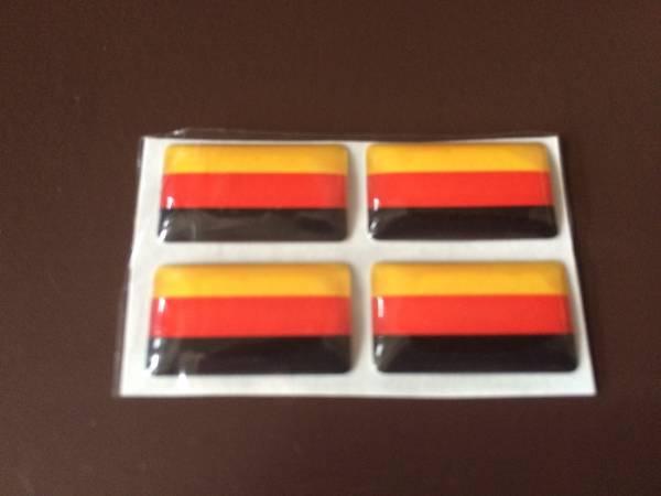 ミニステッカー 3D 立体 エンブレム シール 国旗カラー 【ドイツ】 ワーゲン アウディ BMW_☆お得な4個セット☆