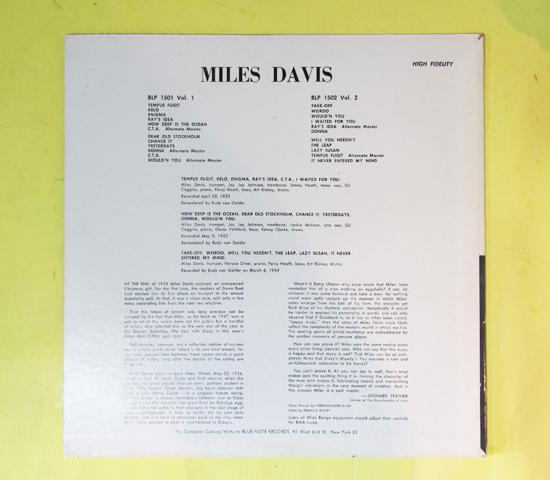 価格応談◆MILES DAVIS◆BLUE NOTE 63rd RVG刻印 米深溝_画像2
