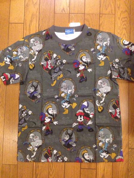 東京ディズニーシー2016年ハロウィン限定ヴィランズTシャツ③ ディズニーグッズの画像