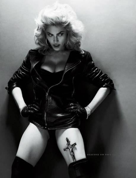 マドンナ Madonna モノクロ アート フォト 二枚付き ライブグッズの画像