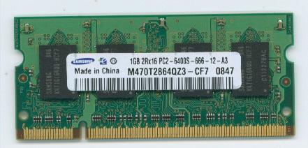 D2/N800-1G互換メモリー1GB PC2-6400(PC2-5300対応) 200Pin 即決 相性保証_画像1