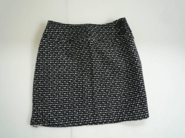 【良品】■エルベンス/ELVENCE■ 台形スカート 黒系 総柄 M ミニ