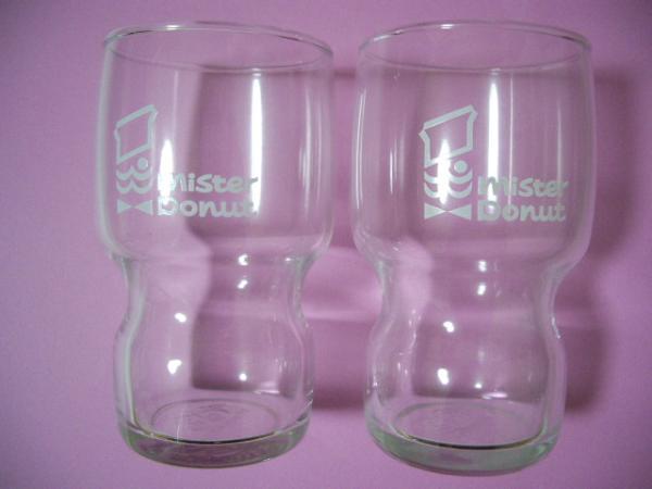 ミスタードーナツ◆非売品◆ミスド 35周年記念 復刻版 グラス 2個 ミスタードーナツ_画像1