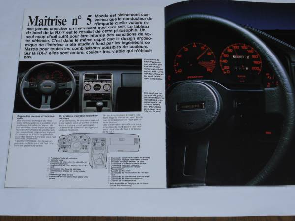 ■SA22C RX-7 フランス語カタログ■_画像2