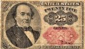 アメリカ 1874年 25セント 小額紙幣