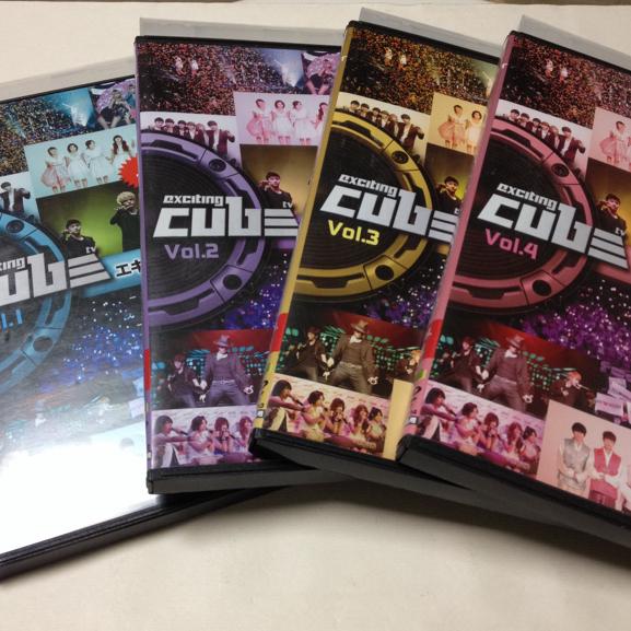 エキサイティング CUBE TV 全4巻/BEAST 4Minute G.NA出演 ライブグッズの画像