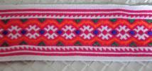 モン族◆タイ チロリアンテープ 刺繍◆手芸用素材 リボンテープ エスニックリボン アジアン刺繍 ハンドメイドパーツ