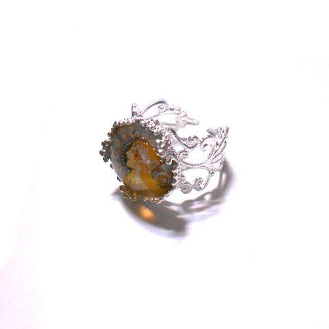 アルフォンス・ミュシャ「黄道十二宮」の絵柄リング指輪_画像2