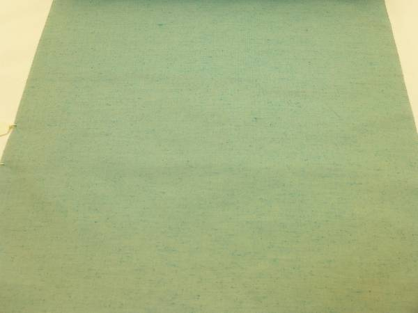 男物★新品正絹反物★山形県米沢・竹股織物製紬着尺★水色地です_画像2
