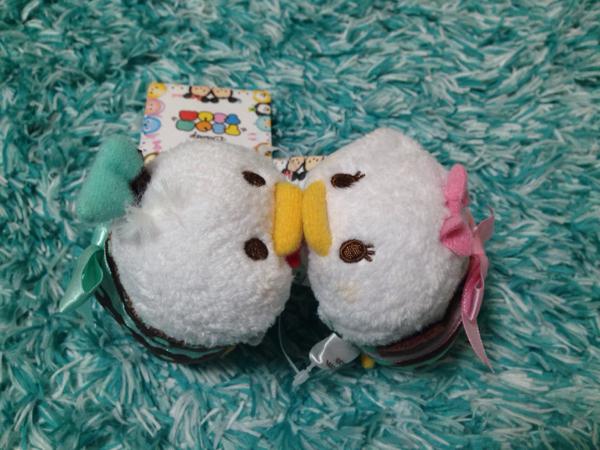 即決◆ ドナルド デイジー Tsum ツムツム S リボン プレゼント ディズニーストア クリスマス 限定 ペア ディズニーグッズの画像