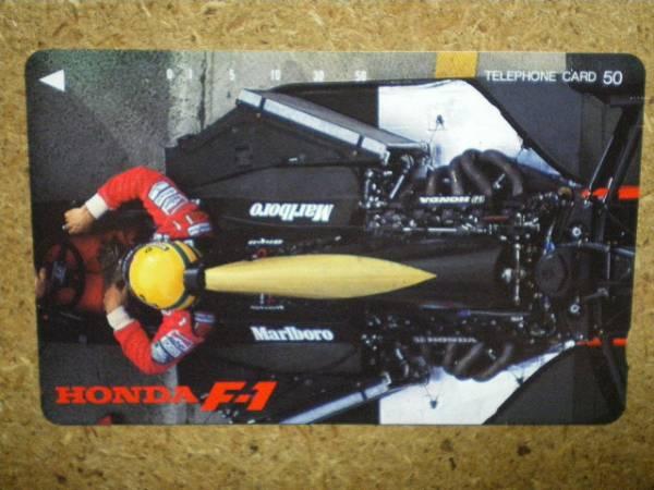 F1/AS1・ホンダ マルボロ セナ テレカ_画像1